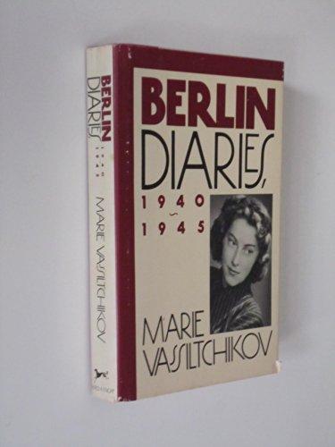 9780394556246: Berlin Diaries, 1940-1945