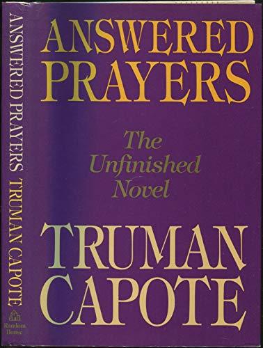 9780394556451: Answered Prayers: The Unfinished Novel