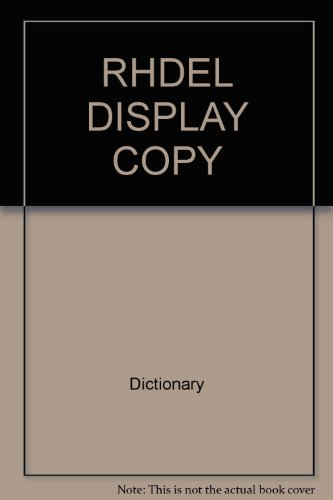 Rhdel Display Copy (0394565304) by Dictionary