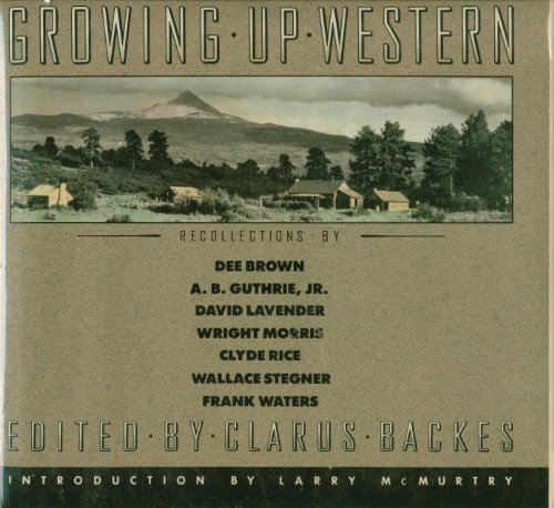 Growing up Western: Backes, Clarus (editor)