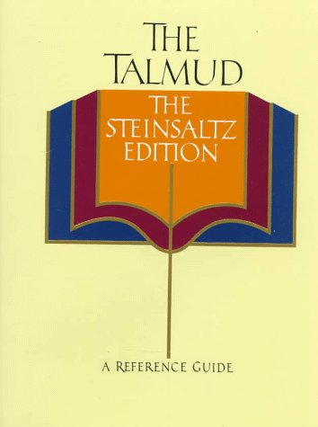 9780394576657: The Talmud, The Steinsaltz Edition: A Reference Guide (English and Hebrew Edition)