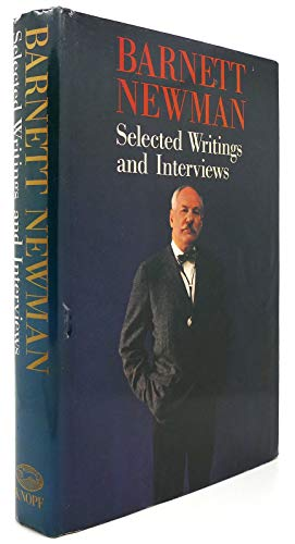 9780394580388: Barnett Newman: Selected Writings and Interviews