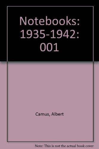 9780394603490: Notebooks: 1935-1942: 001