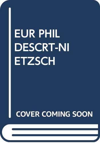 9780394604121: The European Philosophers from Descartes to Nietzsche