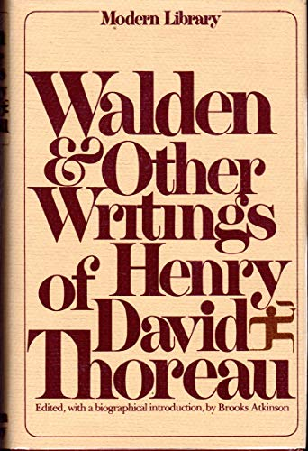 9780394604213: Walden and Other Writings