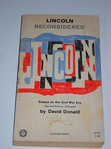 9780394701905: LINCOLN RECONSIDR V190