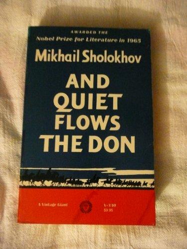 And Quiet Flows The Don (A Vintage Giant, V-330): Mikhail Sholokhov