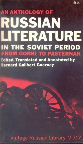 9780394707174: Anthology of Russian Literature in the Soviet Period from Gorki to Pasternak