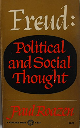 9780394708485: Freud Political and Social Thought