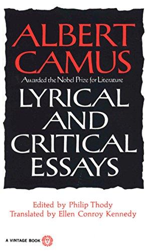 9780394708522: Lyrical and Critical Essays