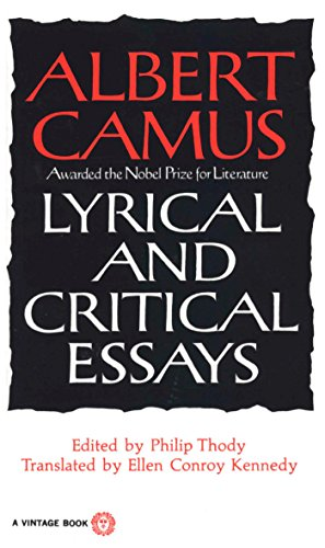 Lyrical and Critical Essays Format: Paperback: CAMUS, ALBERT