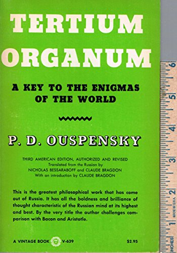 9780394708645: Tertium Organum the Third Canon of Thought - A Key to the Enigmas of the World