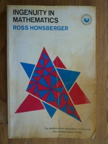 9780394709239: Ingenuity in mathematics (New mathematical library)