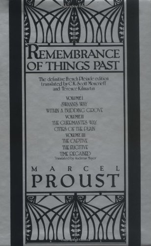 Remembrance of Things Past Volumes 1-3 Box: Marcel Proust