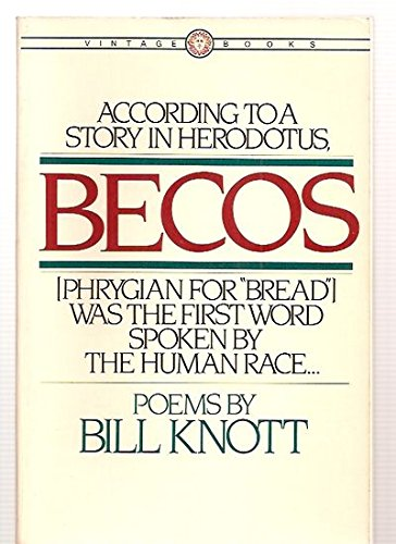 9780394714448: Becos: Poems