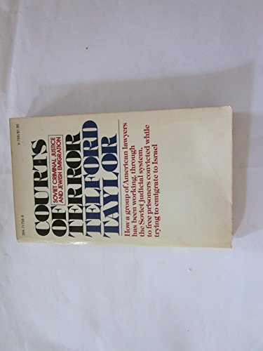 9780394717586: Courts of terror: Soviet criminal justice and Jewish emigration