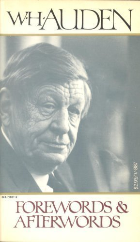 Forewords and afterwords: Auden, W. H