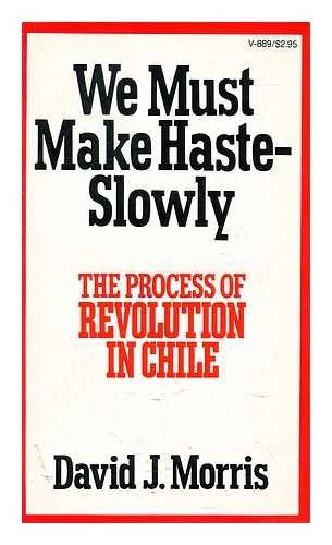 9780394718897: We Must Make Haste--Slowly: The Process of Revolution in Chile