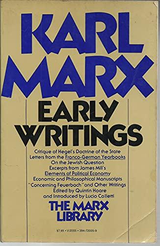 9780394720050: Early Writings