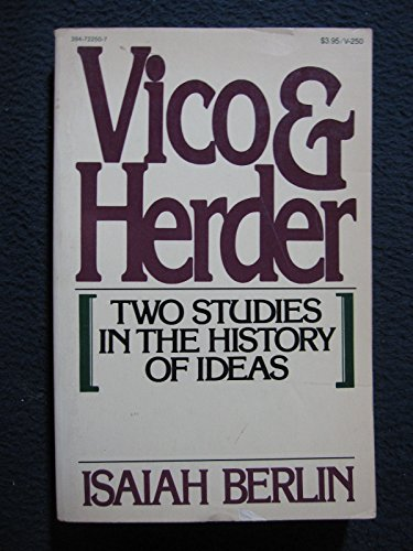 9780394722504: Title: Vico and Herder Two studies in the history of idea