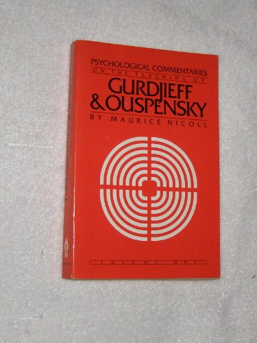 9780394723952: Psychological Commentaries on the Teaching of Gurdjieff & Ouspensky, Vol. 1