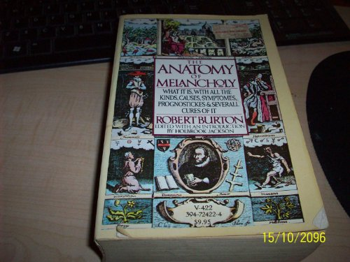 9780394724225 The Anatomy Of Melancholy Abebooks Robert Burton