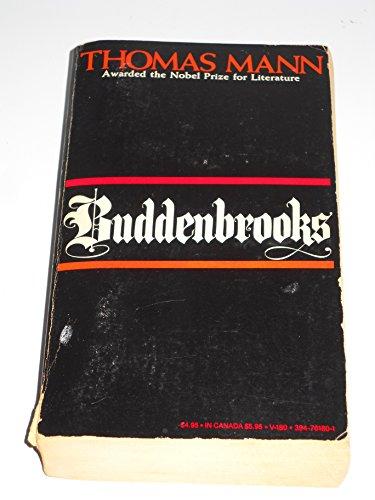 9780394726373: Buddenbrooks: The Decline of a Family