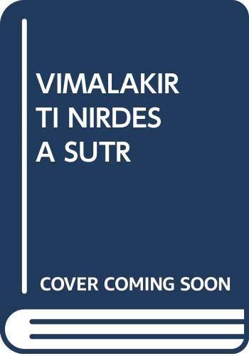 9780394730653: The Vimalakirti Nirdesa Sutra