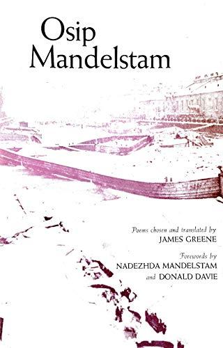 Osip Mandelstam : Poems: Osip Mandelstam; James