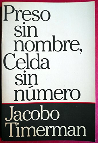 9780394749037: PRESO SIN NOMBRE, CELDA SIN NUMERO