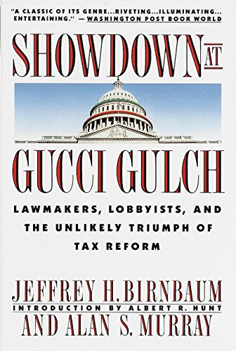 Showdown at Gucci Gulch 9780394758114 The Tax Reform Act of 1986 was the single most sweeping change in the history of America's income tax. It was also the best political and economic story of its time. Here, in the anecdotal style of The Making of the President, two Wall Street Journal reporters provide the first complete picture of how this tax revolution went from an improbable dream to a widely hailed reality.