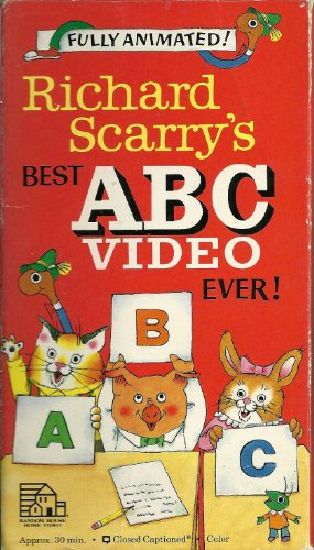 Richard Scarry's Best ABC Video Ever! (VHS): Scarry, Richard