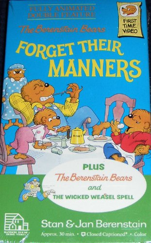 9780394829425: The Berenstain Bears Forget Their Manners [VHS]