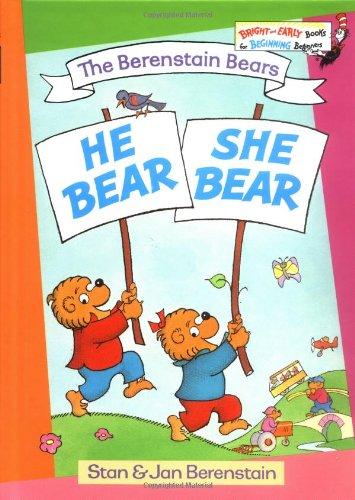 9780394829975: The Berenstain Bears He Bear, She Bear (Bright & Early Books)