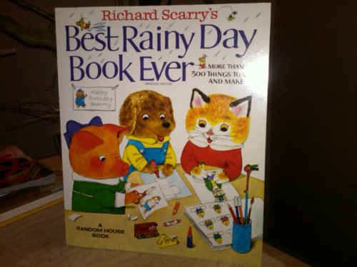 9780394830186: Richard Scarry's Best Rainy Day Book Ever: More Than 500 Things to Color and Make.