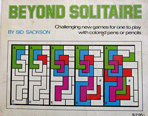 9780394833040: Beyond solitaire: Challenging new games for one to play with colored pens or pencils