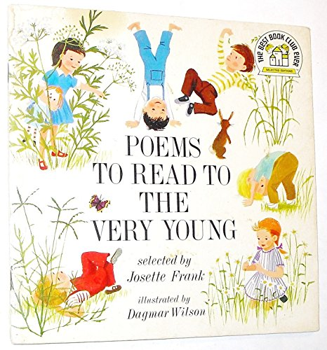 9780394837055: Poems to read to the very young (The Best book club ever)