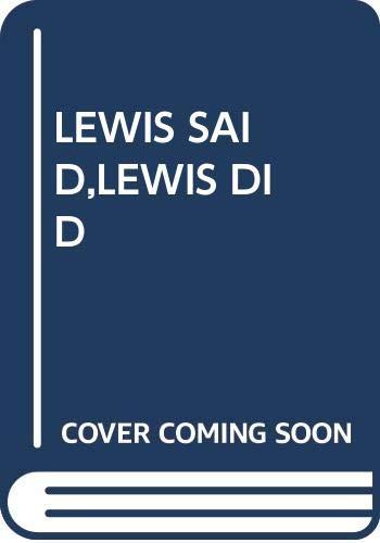 9780394886909: LEWIS SAID,LEWIS DID (Great big board books)