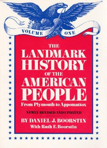 9780394891187: The Landmark History of the American People:Vol. 1