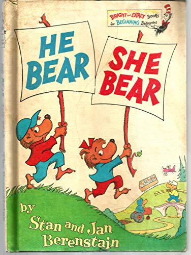 9780394929972: The Berenstain Bears He Bear, She Bear (Bright & Early Books)