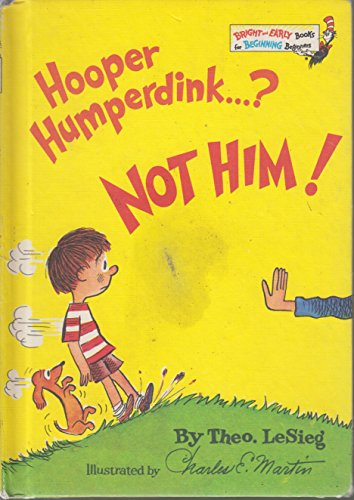 9780394932866: Hooper Humperdink...? Not Him! (Bright and Early Book, #22)