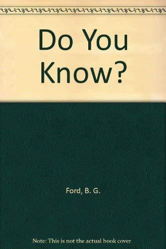 9780394940700: Do You Know?
