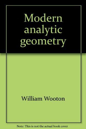 9780395037430: Modern analytic geometry