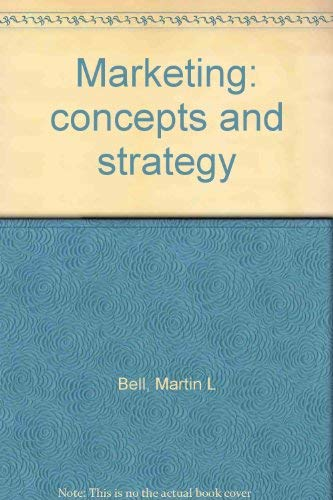 9780395041628: Marketing: concepts and strategy