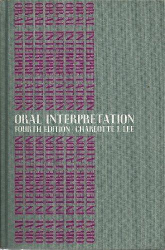 9780395047767: Oral interpretation
