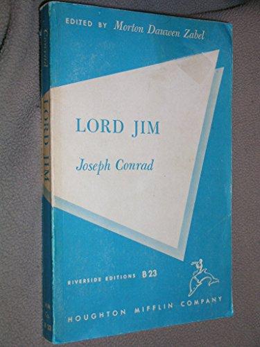 9780395051214: Lord Jim (Riverside editions)