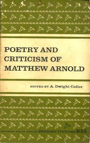 Poetry and Criticism of Matthew Arnold (Riverside Bookshelf): Arnold, Matthew