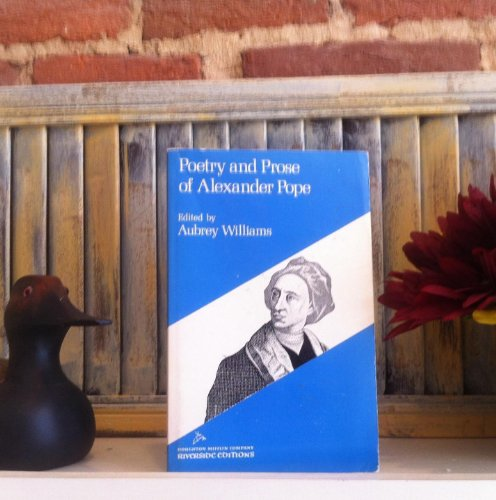 Poetry And Prose Of Alexander Pope (Riverside: Alexander Pope