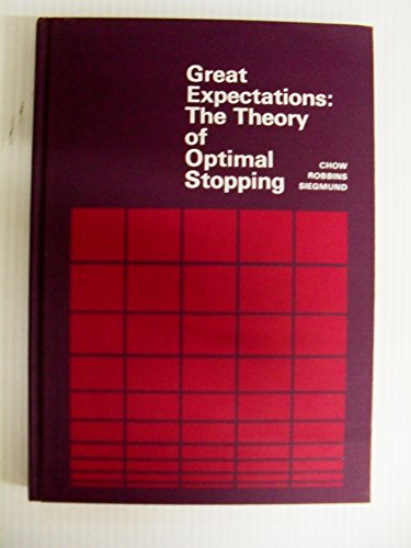 9780395053140: Great Expectations: The Theory of Optimal Stopping