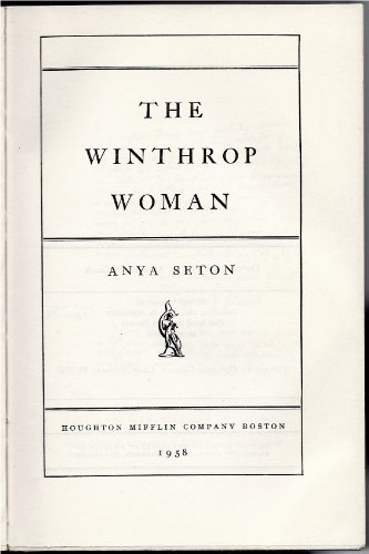 9780395081761: The Winthrop Woman